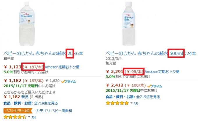 Amazon赤ちゃん水