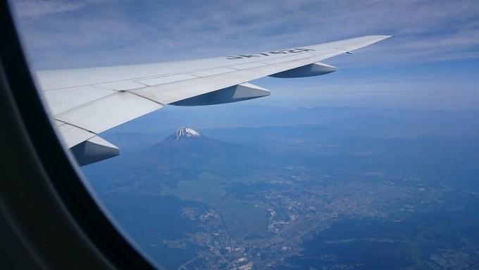 飛行機富士山