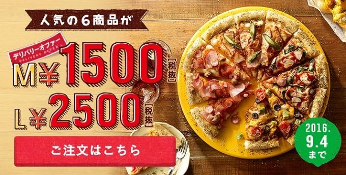 デリバリーオファーMサイズ1500円Lサイズ2500円