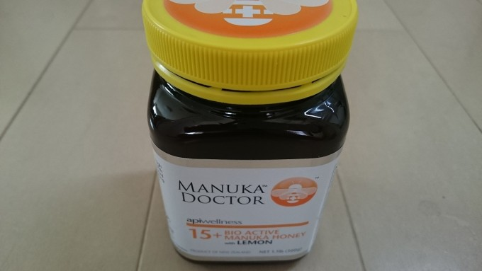 Manuka Doctor 15+バイオアクティブマヌカハニーレモン入り(500g用)1