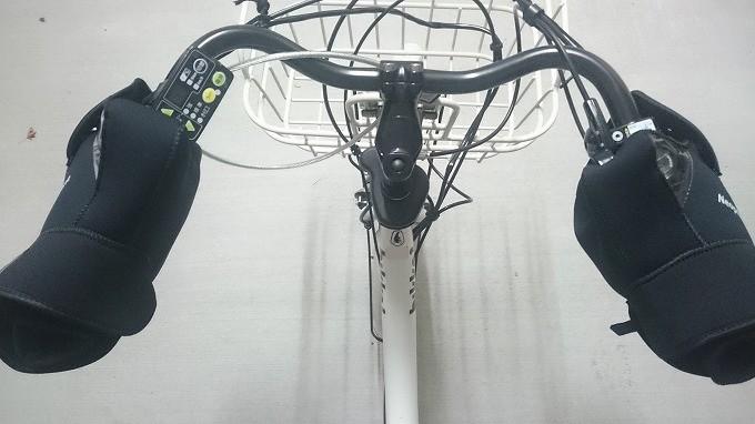 電動自転車にバイク用ハンドルカバーコミネAK-021-5