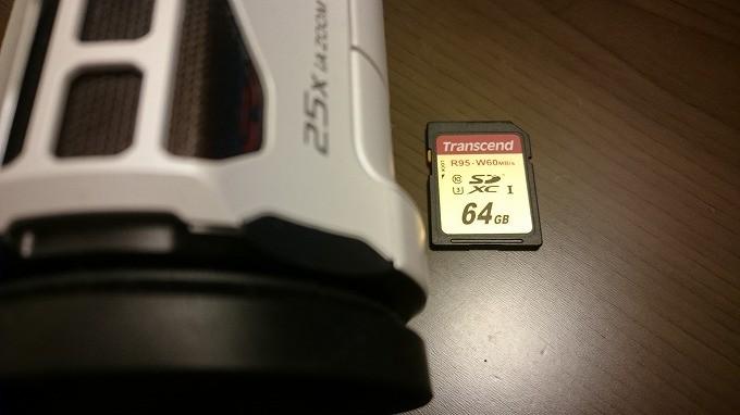 パナソニックHC-VX980M-5-Transcend SDXCカード 64GB UHS-I U3対応