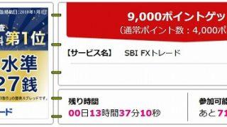 【3月8日11:59まで】SBI FX口座開設で9,500円貰える!マイルに交換も可能